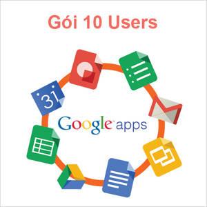 Email Google theo tên miền riêng gói 10 User